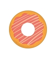 donut dessert cute sweet food icon graphic vector image