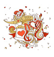 I Love You doodles vector image