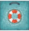 Lifebuoy web icon Old vintage background vector image