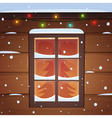 Snow Window vector image