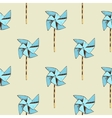 Paper windmill pattern vector image vector image