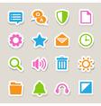 Computer menu icons set eps 10 vector image vector image
