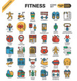 fitness exercise icons vector image