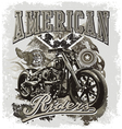 hot rod american riders vector image