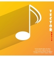 Music elements notes web icon flat design vector image