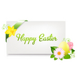blank gift tag with egg vector image