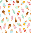 Assorted ice cream seamless pattern vector image