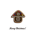 Gingerbread chocolate house vector image