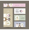 Business cards design women in spa saloon vector image vector image