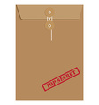 Envelope top secret vector image