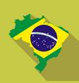 brazil cartoon flat icon landmark vector image