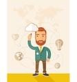 Businessman his business plan vector image