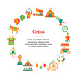 cartoon circus banner card circle vector image