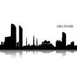 cityscape of abu dhabi vector image