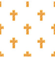 golden cross easter single icon in cartoon style vector image