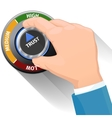 Trust knob button or switch High confidence level vector image