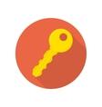 Modern key icon vector image