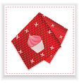Red handkerchief with printed cupcake vector image vector image