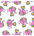 colorful elephant circus pattern style vector image