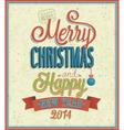 Merry Christmas typographic design vector image