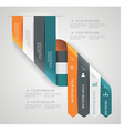 Modern spiral infographics options banner vector image vector image
