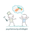 psychoneuropathologist speaks with the patient on vector image vector image