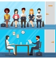 Business people waiting for job interview vector image