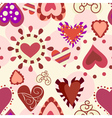 sweet love pattern vector image vector image