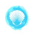 White sea shell vector image