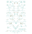 Vintage Ornaments Design Elements vector image vector image