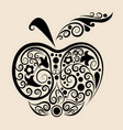 Apple ornament vector image vector image