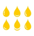 set of glossy oil drop vector image