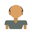 Adult male bald vector image