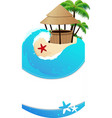 Beach with cocktail Bar vector image