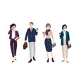 collection of people dressed in smart clothing vector image