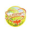 Colorful summer badge vector image