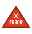 error sign icon image vector image