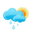 glass nature weather symbol blue color vector image