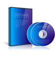Realistic Blue Case for DVD Or CD Disk vector image