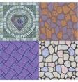 set of floor stone textures vector image