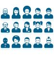 Simple people avatars vector image