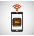 digital holy bible internet icon vector image