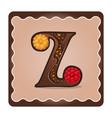 letter z candies vector image