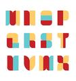 Alphabet set paper colour style vector image vector image