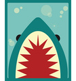 Shark poster vector image
