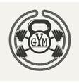 GYM logo vector image