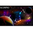 Astrology Sign Scorpio vector image vector image