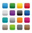blank square buttons vector image vector image