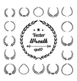 Wreath collection on white background vector image