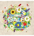 Summer sale design floral frame on cardboard vector image vector image